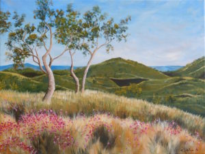 Landscape Painting depicting the gorgeous Wildflowers of Western Australia